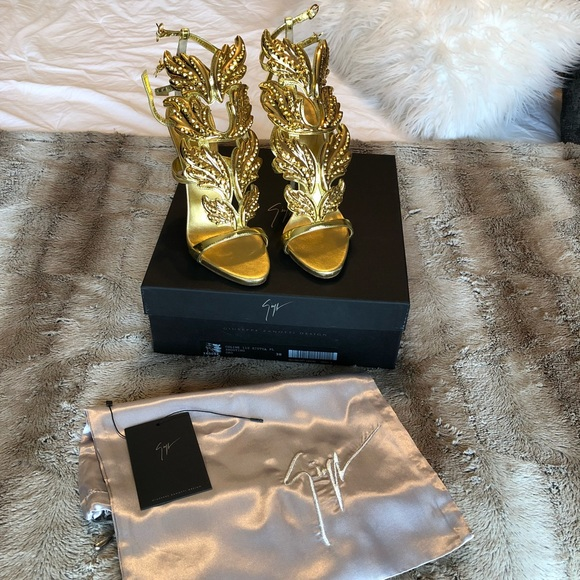 bb10d87be7933 Giuseppe Zanotti Shoes | Coline Wings Suede Sandal | Poshmark